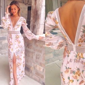 NWT For Love and Lemons Rosa Marie Maxi Dress